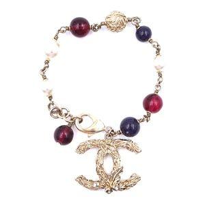 Pearls Beads Cuff Textured Hardware Bracelet